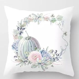 Other - Pillow Cover Floral Wreath Print
